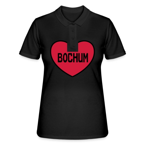 Bochum Herz - Frauen Kapuzenpulli - Frauen Polo Shirt