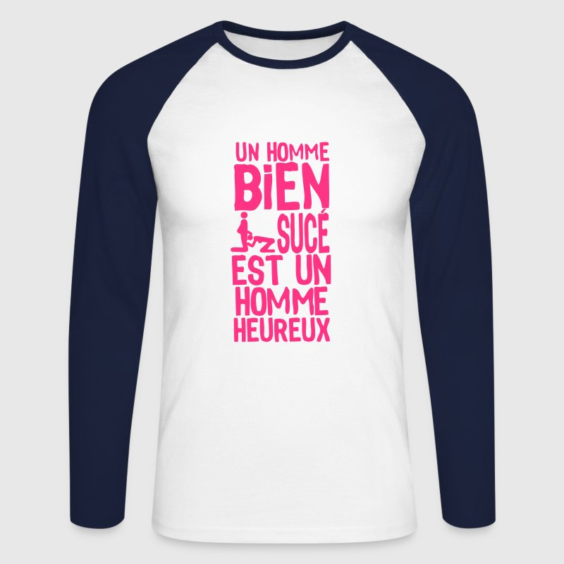 homme bien suce heureux1 Tee shirts manches longues - T-shirt baseball manches longues Homme
