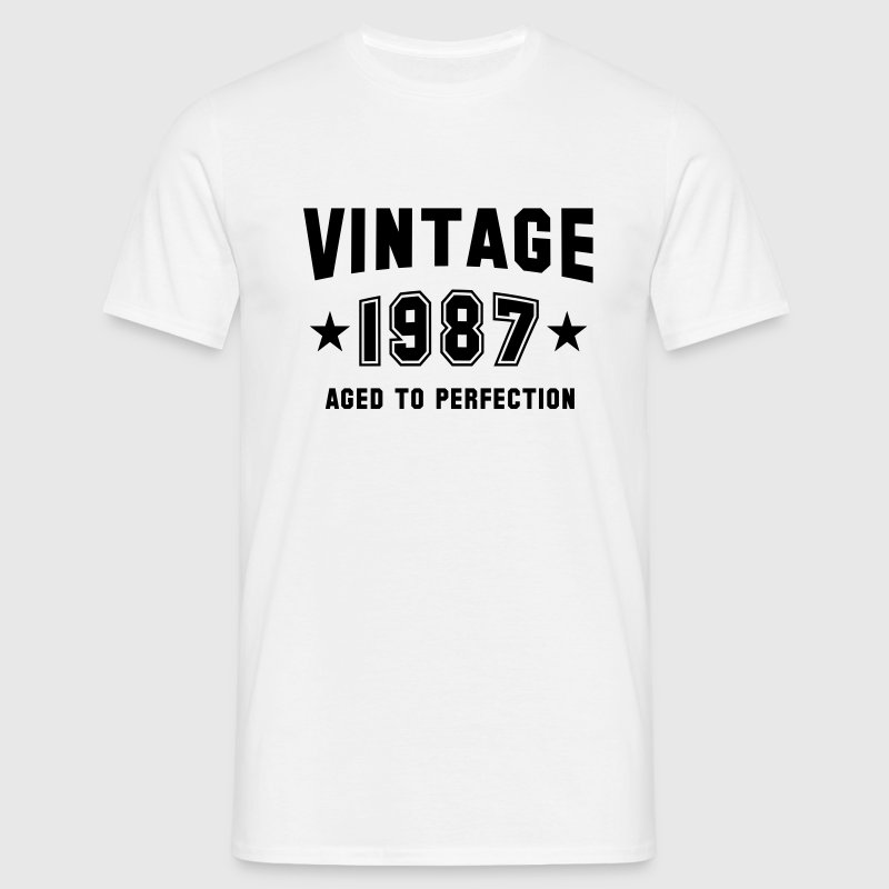 VINTAGE 1987 - Birthday T-Shirt White - Men's T-Shirt