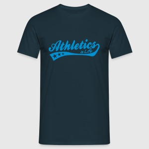 athletics is life - retro Tröjor - T-shirt herr