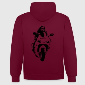 moto vect by customstyle Tee shirts - Sweat-shirt contraste