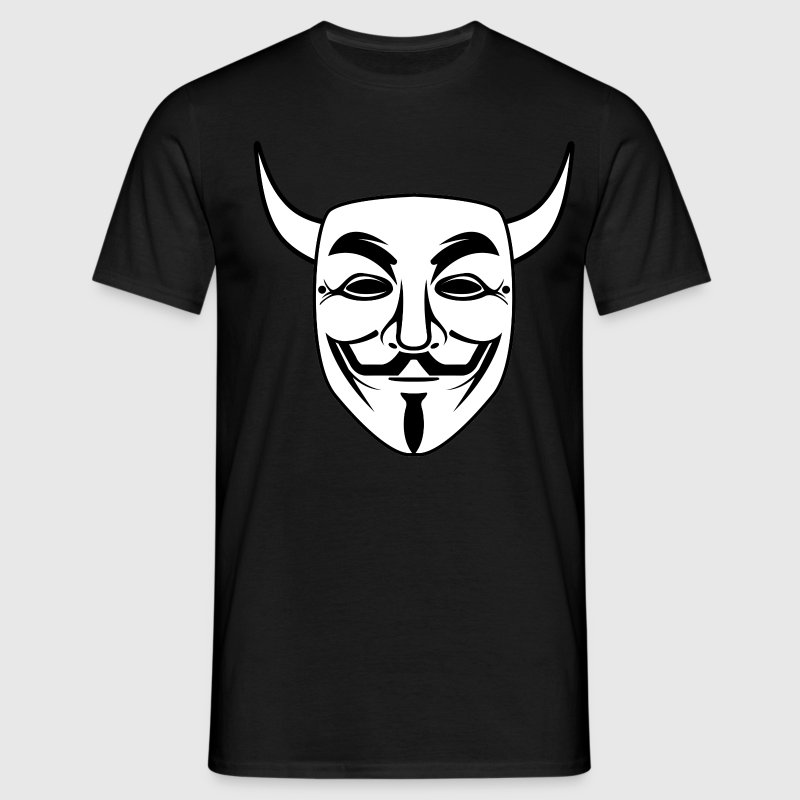anonymous devil mask - Men's T-Shirt