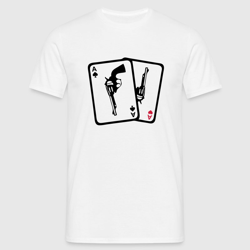 carte poker as revolver pistolet arme210 Tee shirts - T-shirt Homme