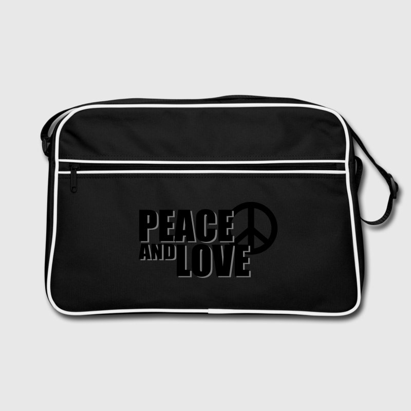 Sac en bandoulière Peace and Love - Sac Retro