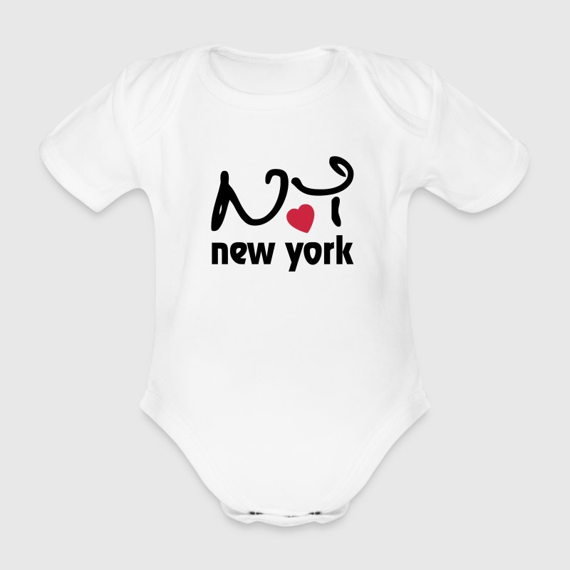 I Love New York Body neonato - Body ecologico per neonato a manica corta