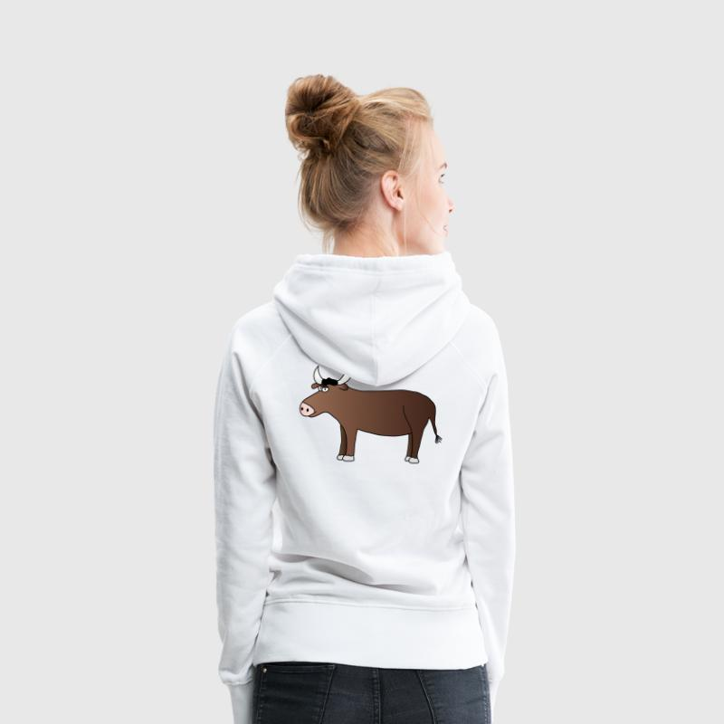 Taureau Sweat-shirts - Sweat-shirt à capuche Premium pour femmes