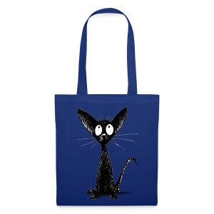 Funny Little Cute Black Cat - Tote Bag