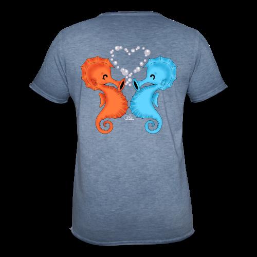 KinderShirt Seepferdchenliebe - Männer Vintage T-Shirt