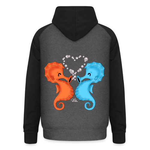 KinderShirt Seepferdchenliebe - Unisex Baseball Hoodie