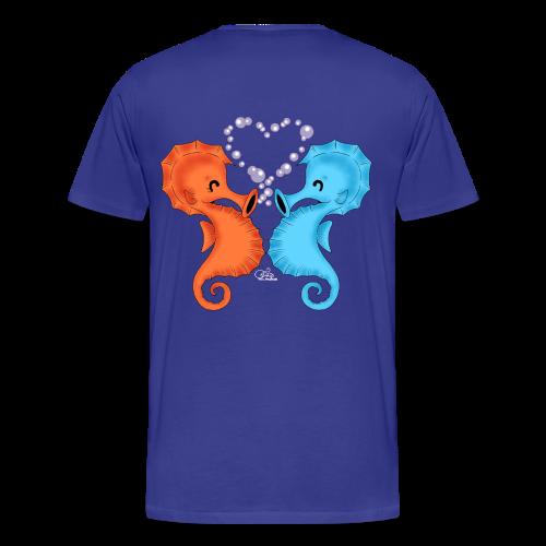 KinderShirt Seepferdchenliebe - Männer Premium T-Shirt