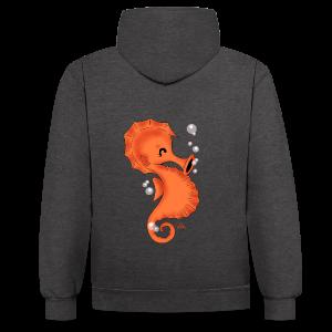 KinderShirt Seelina Seepferdchen - Kontrast-Hoodie