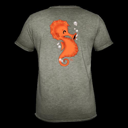 KinderShirt Seelina Seepferdchen - Männer Vintage T-Shirt