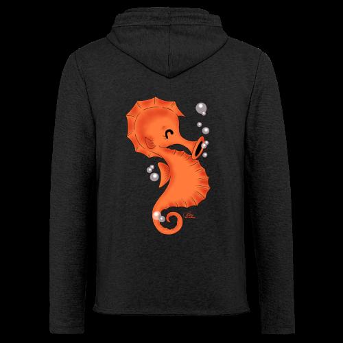 KinderShirt Seelina Seepferdchen - Leichtes Kapuzensweatshirt Unisex