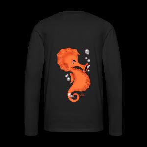 KinderShirt Seelina Seepferdchen - Männer Premium Langarmshirt