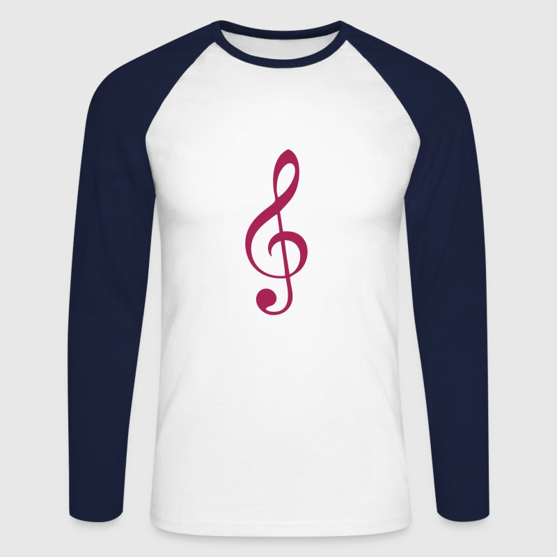 cle de sol note musique Tee shirts manches longues - T-shirt baseball manches longues Homme