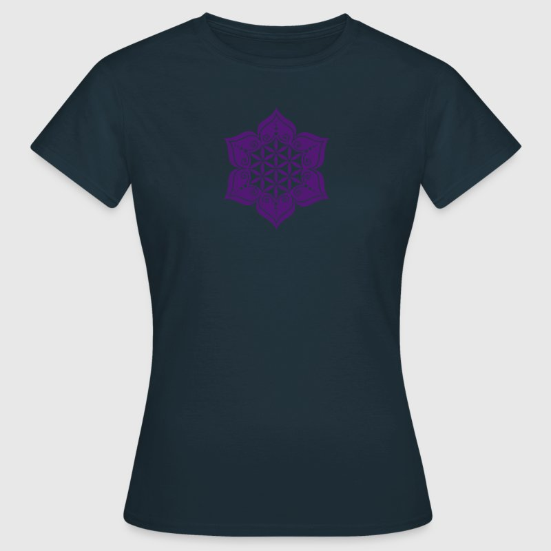 Flower of life, Lotus-Flower, vector, c, energy symbol, healing symbol T-Shirts - Women's T-Shirt