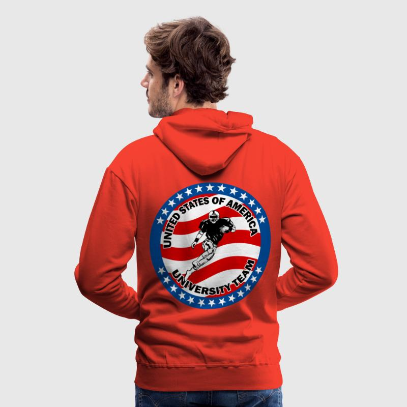 football americain 01 Sweat-shirts - Sweat-shirt à capuche Premium pour hommes