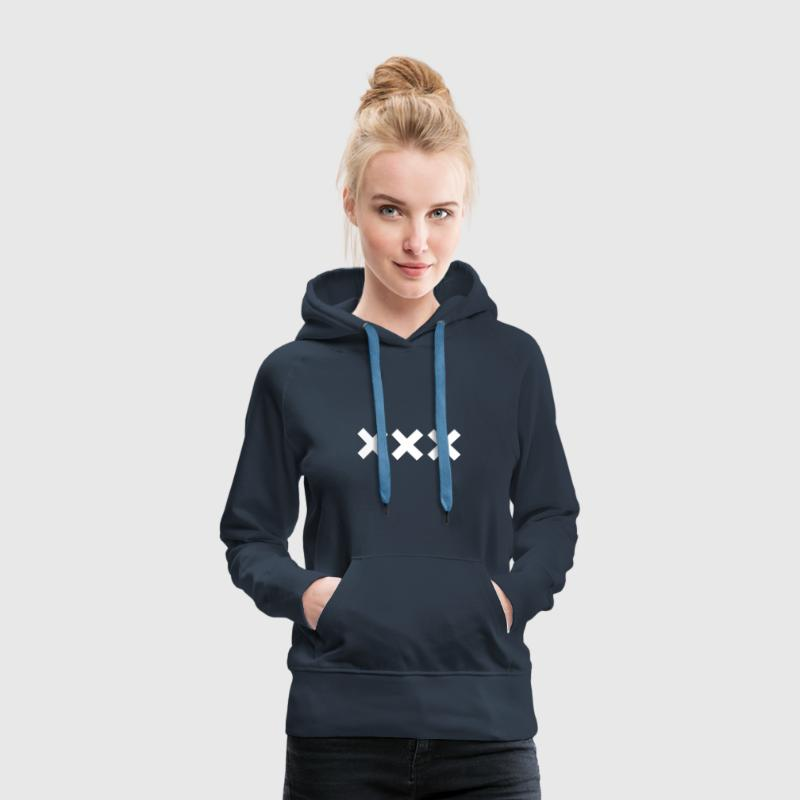 xxx - Amsterdam Sweat-shirts - Sweat-shirt à capuche Premium pour femmes