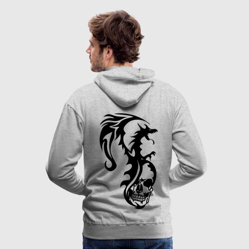 dragon tribal tatouage tete mort1 Sweat-shirts - Sweat-shirt à capuche Premium pour hommes