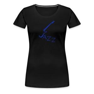 T-shirt  für Jazzliebhaber mit Motivschriftzug Jazz  - Frauen Premium T-Shirt