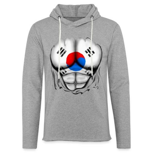 South Korea Flag Ripped Muscles, six pack, chest t-shirt - Light Unisex Sweatshirt Hoodie