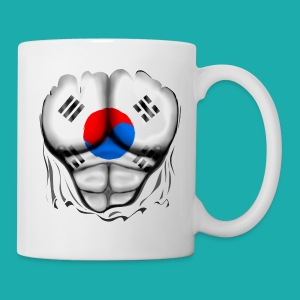 South Korea Flag Ripped Muscles, six pack, chest t-shirt - Mug
