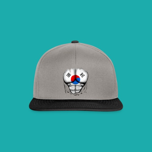 South Korea Flag Ripped Muscles, six pack, chest t-shirt - Snapback Cap