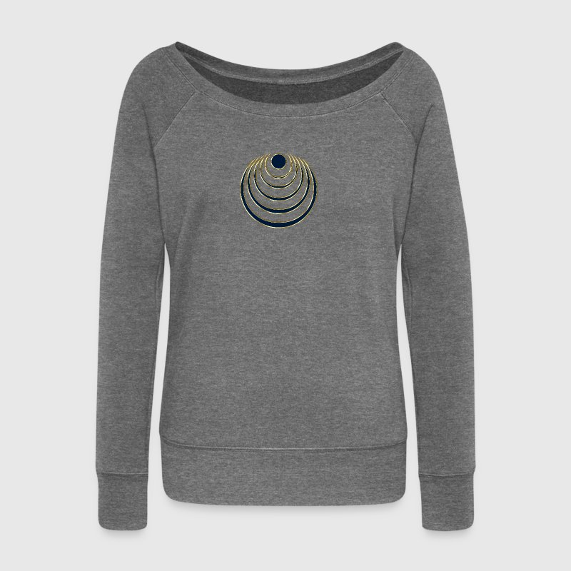 Moon amulet  - intuition, creativity and media skills, digital, protection symbol Hoodies & Sweatshirts - Women's Boat Neck Long Sleeve Top