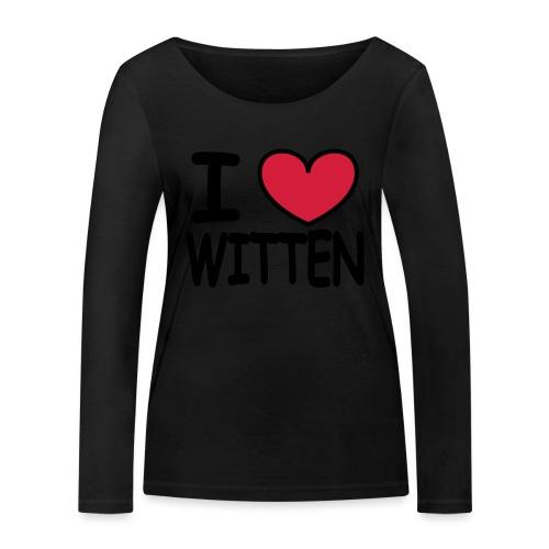 I love Witten - Shirt klassisch - Frauen Bio-Langarmshirt von Stanley & Stella