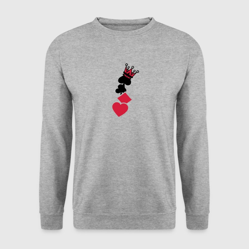 coeur pique trefle carreau couronne poker Sweat-shirts - Sweat-shirt Homme