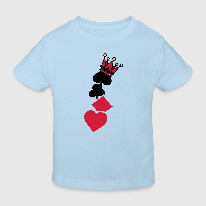 coeur pique trefle carreau couronne poker Tee shirts Enfants - T-shirt Bio Enfant