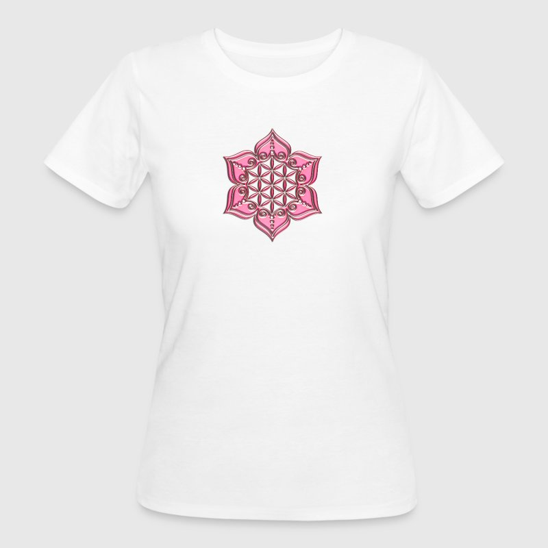 Fleur de Vie - Flower of life, Lotus - Flower,  pink, Symbol of perfection and balance Tee shirts - T-shirt Bio Femme