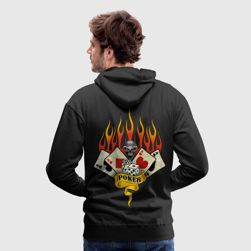poker team design 2 Sweat-shirts - Sweat-shirt à capuche Premium pour hommes