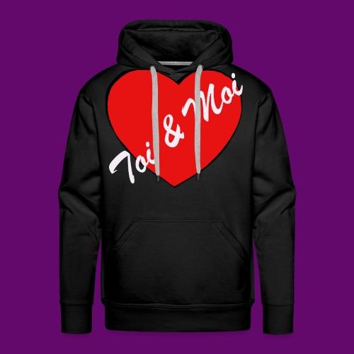 toi et Moi - Sweat-shirt à capuche Premium pour hommes