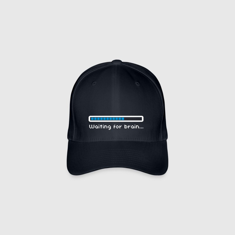 Waiting for brain (loading bar) / Funny humor Casquettes et bonnets - Casquette Flexfit