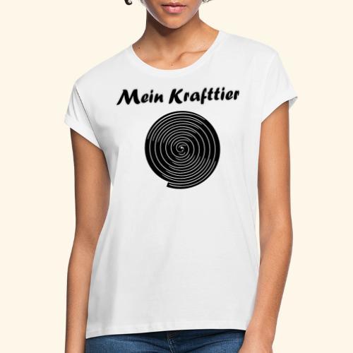 Krafttier, Kontrast - Frauen Oversize T-Shirt