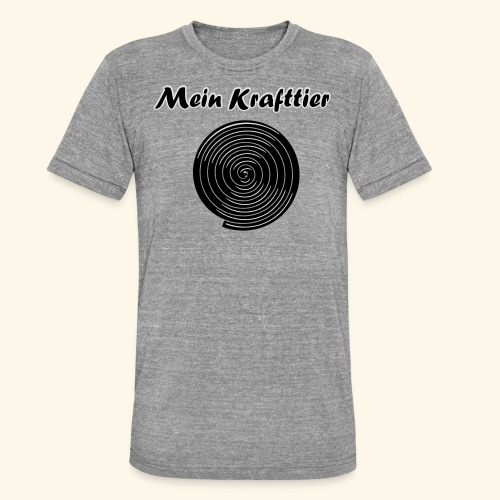 Krafttier, Kontrast - Unisex Tri-Blend T-Shirt von Bella + Canvas