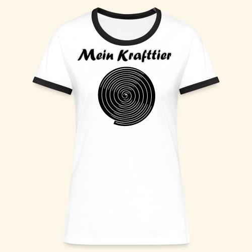 Krafttier, Kontrast - Frauen Kontrast-T-Shirt