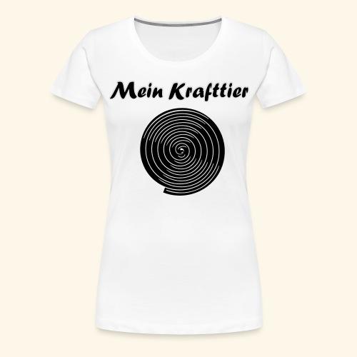 Krafttier, Kontrast - Frauen Premium T-Shirt