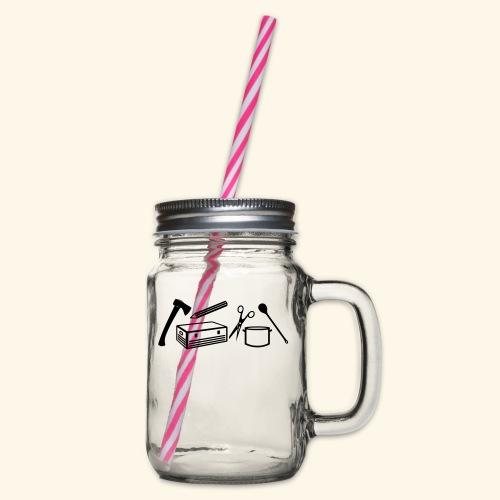 Materialwart - Burschen - Henkelglas mit Schraubdeckel