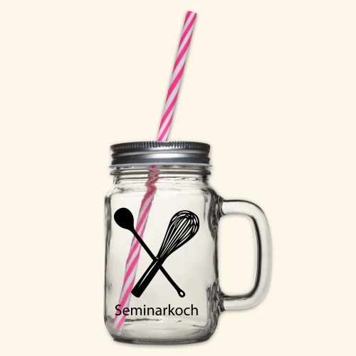 Seminarkoch - Burschen - Henkelglas mit Schraubdeckel