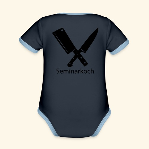 Seminarkoch - Burschen - Baby Bio-Kurzarm-Kontrastbody