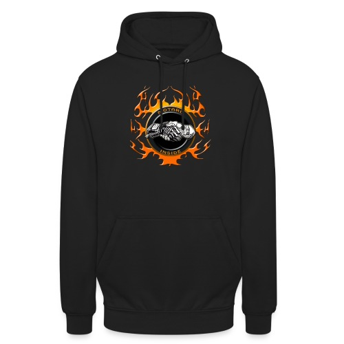 Motard inside - Sweat-shirt à capuche unisexe