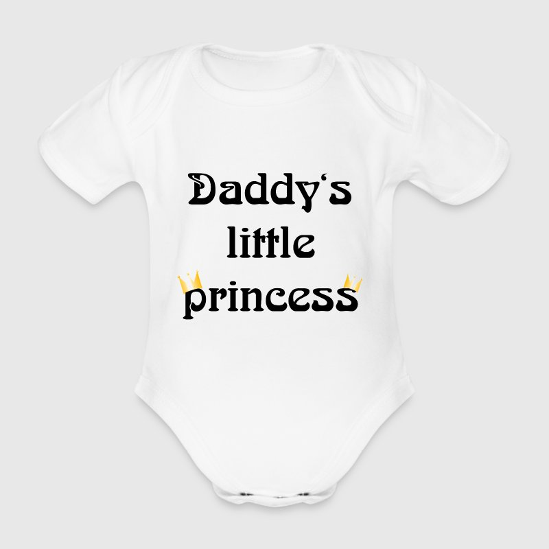 daddys little princess Baby Body - Baby Bio-Kurzarm-Body