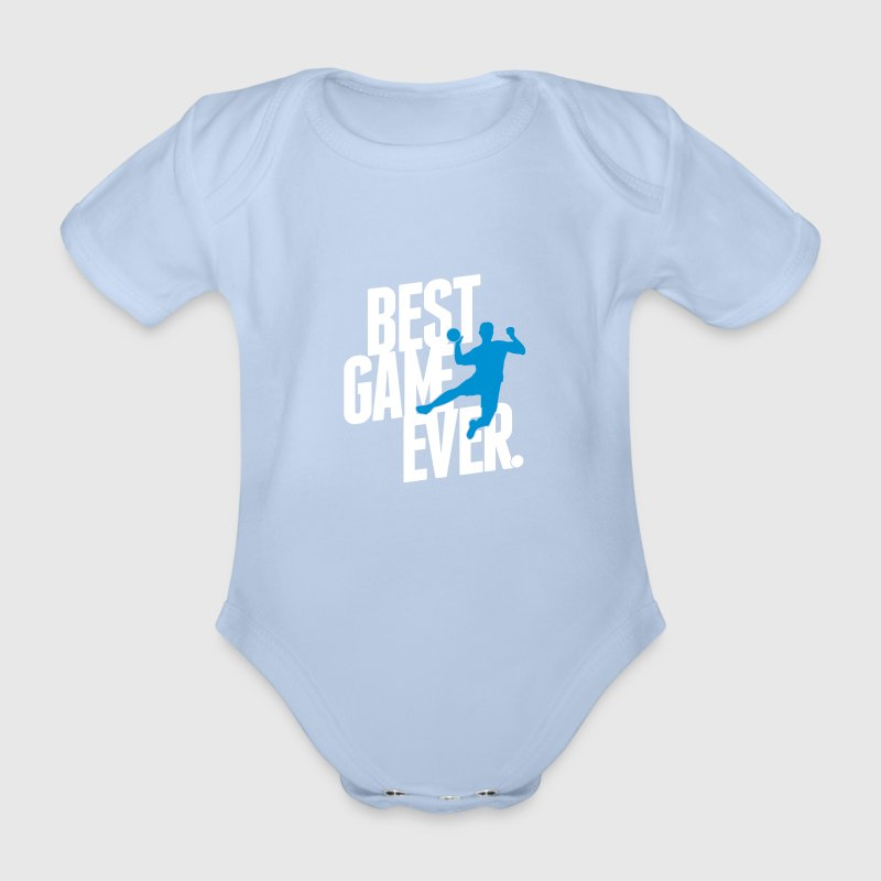 best game ever - handball Baby Body - Baby Bio-Kurzarm-Body