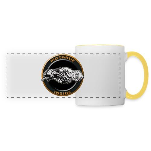 Motard inside - Mug panoramique contrasté et blanc
