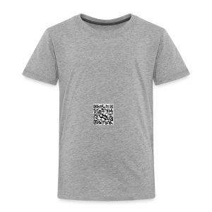 QR Code : Ich bin auf dieser Welt ...   Trinkflasche - Kinder Premium T-Shirt