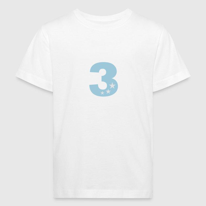 Geburtstag, 3. Geburtstag Kindergeburtstag Kinder  - Kinder Bio-T-Shirt