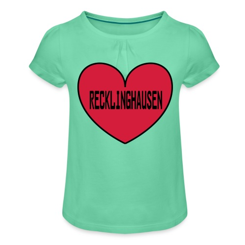 Recklinghausen Herz - Männer Kapuzenpulli - Mädchen-T-Shirt mit Raffungen