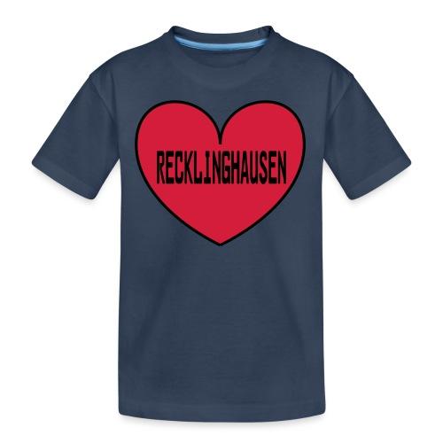 Recklinghausen Herz - Männer Kapuzenpulli - Teenager Premium Bio T-Shirt